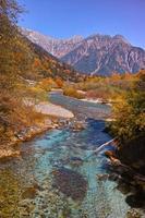 herfst kamikochi azusa rivier