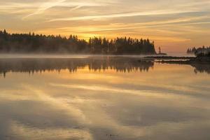 zonsopgang op schoodic schiereiland