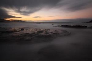 zijde effect op het strand van Lastron, muskiz