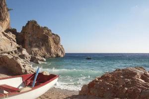 boot op het strand foto