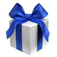 geschenkdoos - blauw lint foto