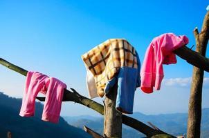 wasgoed buiten drogen foto