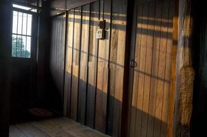 huis huis teak hout lak hard meubel concept foto
