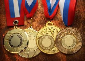 metalen medailles foto