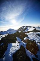 Mt kilimanjaro route naar de top foto