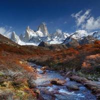 mount fitz roy, los glaciares national park, patagonië