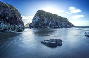 Holywell Bay Islands in de buurt van Newquay in Cornwall