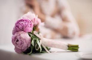 boeket van de bruid foto