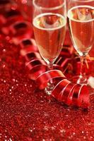 Valentijnsdag champagne foto