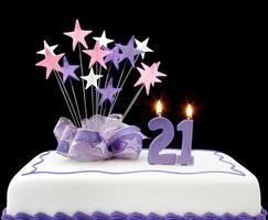 21e taart foto
