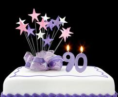 90e taart foto