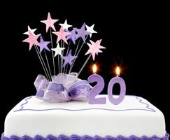 20e taart foto