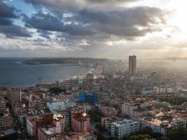havana, cuba, uitzicht op zee foto