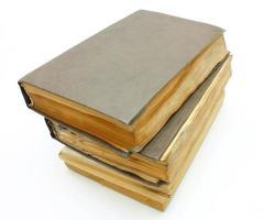 oude beschimmelde boeken foto