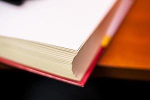 rood boek, macro foto