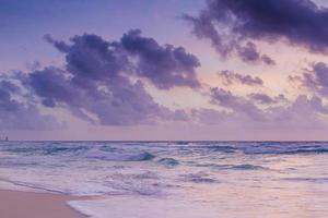 strand van de Caribische zee foto