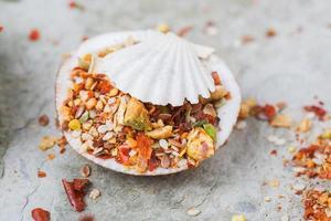 mediterrane zeevruchtenmix van kruiden en specerijen