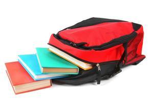 schoolrugzak en boeken. foto