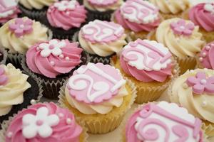 selectie van 21e verjaardag cupcakes foto