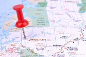 kaart van de Kimberley foto
