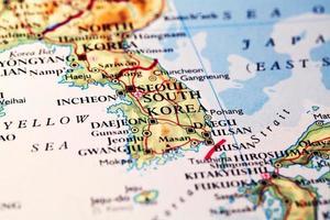 kaart zuid-korea foto
