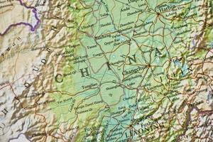 china kaart foto