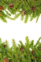 kerst achtergrond. vooravond kader foto