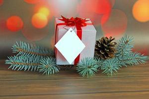 kerstcadeau en decoratie foto