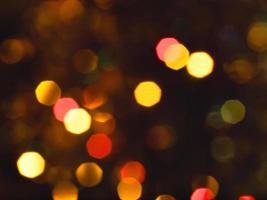 onscherpe kerstverlichting achtergrond