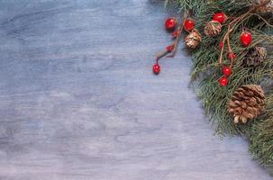Kerst achtergrond met kegel foto