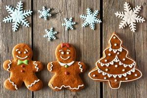 kerst peperkoek paar en boomkoekjes