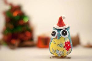 schattige uil kerstdeorations foto