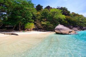 strand van tropische kristalheldere zee, similan eilanden, andaman, t