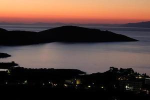 zonsopgang boven de Middellandse Zee op het eiland Kreta, Griekenland