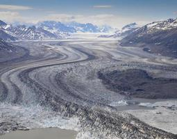 gletsjer, kluane nationaal park, canada foto