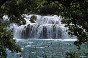 waterval (krka, kroatië) foto