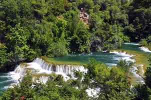rivier in skradinski buk foto