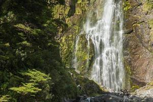 waterval in het nationale park van Arthur's Pass