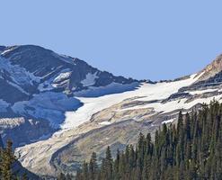 jackson gletsjer in gletsjer nationaal park foto