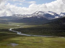 leirungsdalen vallei (jotunheimen nationaal park, vaga, noorwegen)