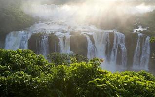 iguassu valt nationaal park aan de kant van Brazilië. foto