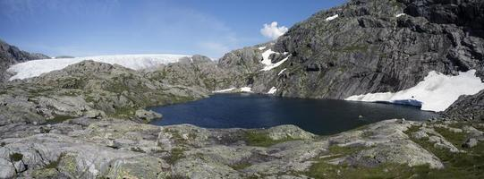 svelgabreen gletsjer (folgefonna nationaal park, hordaland,