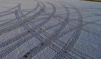 Peak District Snow - Tegg's neus parkeerplaats. foto
