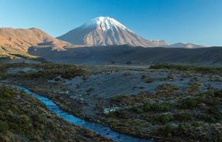 de vulkanische vlaktes van het Tongariro National Park in nz foto