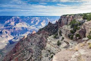 ongelooflijk uitzicht op de Grand Canyon in de vroege ochtend