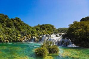 waterval krka in kroatië foto