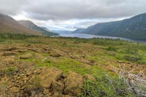 forel rivier vijver en plateaus foto