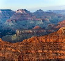 zonsondergang bij grand canyon foto