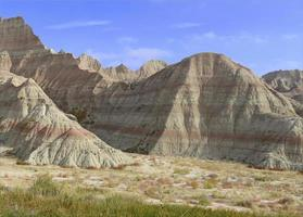 ruig en afgelegen badlands-landschap, South Dakota foto