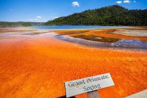 grote prismatische lente in yellowstone, VS.